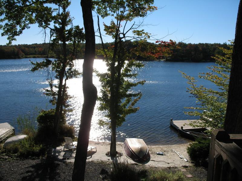 View of the Lake from the Deck - Fantastic Fun on the Lake - Tobyhanna - rentals