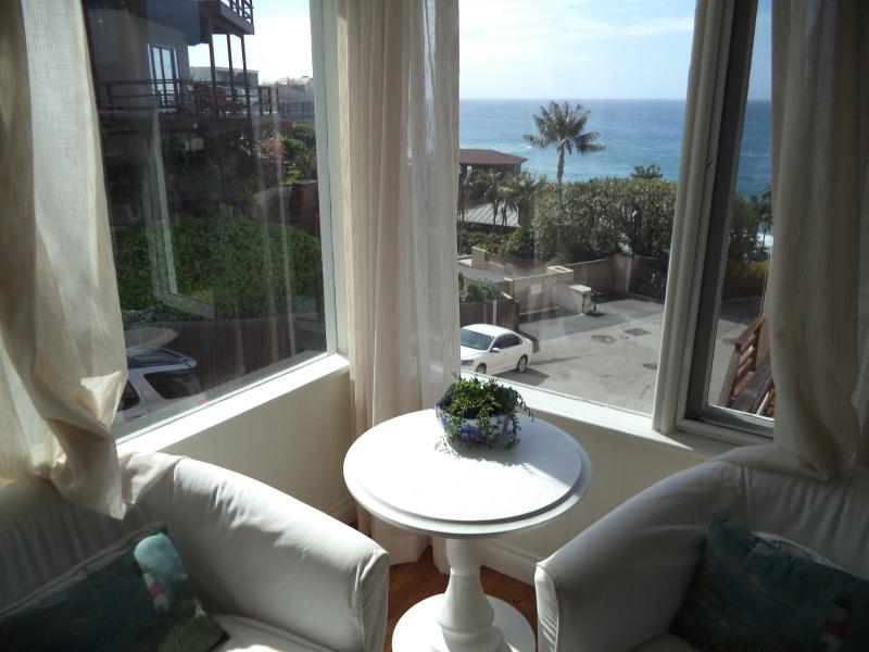 view of ocean from living room - Lovely Cottage Steps to Victoria Beach - Laguna Beach - rentals