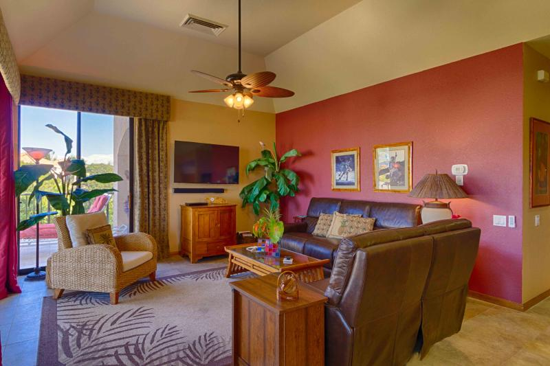 Newly furnished living room - Luxurious One Bedroom with Sunset Views - Mauna Lani - rentals
