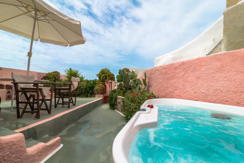 PINK & BLUE villas, private HOT TUB, Caldera View! - Image 1 - Oia - rentals