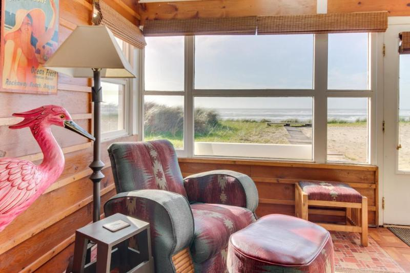 Dog-friendly, oceanfront house full of character and amazing views! - Image 1 - Rockaway Beach - rentals