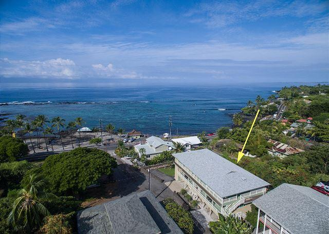 Puuwai O' Kahaluu - Alii Suite on Top Floor - Penthouse with Spectacular Ocean Views Across the street from Kahalu'u Beach! - Kailua-Kona - rentals