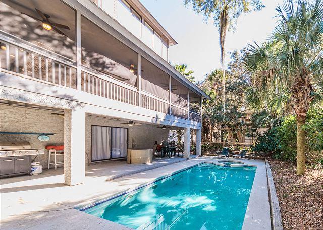 Dogwood Lane 4, 6 Bedrooms, Private Pool, 3rd row to ocean, Sleeps 19 - Image 1 - Hilton Head - rentals