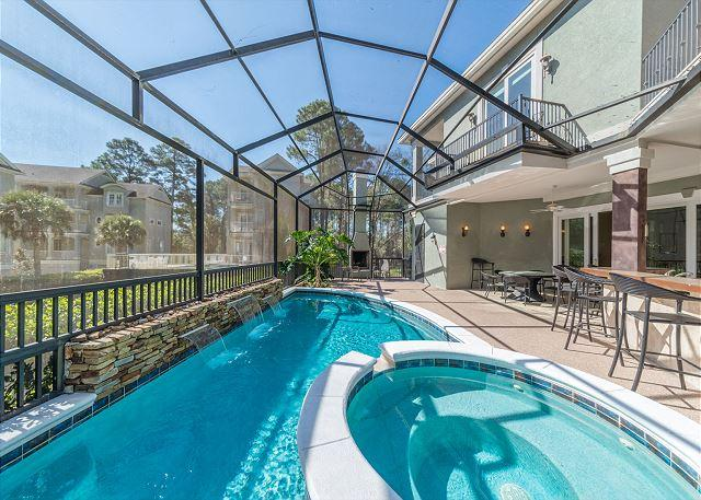 Welcome to Swingle 1 - Swingle Manor 7, 5 Bedrooms, Private Pool, Spa, Walk to Beach, Sleeps 16 - Hilton Head - rentals