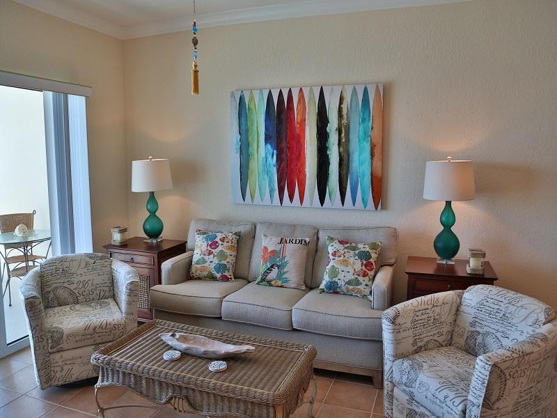 Beautiful living room seating - Crystal Shores West 905 - Gulf Shores - rentals