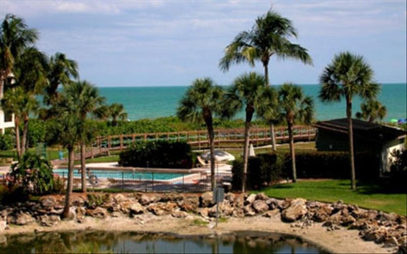 The view from the condo's large lanai is straight out to the Gulf of Mexico. - Special Rates for 2016 Now! Private Beach Access!! - Sanibel Island - rentals