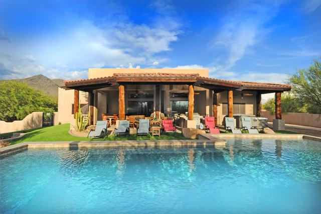Large Resort Style Heated Pool with room for everyone large baby pool and 2 Jetted Hot Tubs - SLEEP 19-ESTATE-HEATED POOL-2 SPAS-OUTSIDE DINING - Scottsdale - rentals