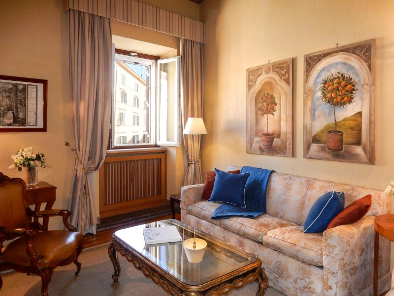 Comfy living room, near Piazza Navona. - Perfect Rome Piazza Navona Area-Washer/Dryer-Luxury-Top Floor-Elevator-Pasquino - Rome - rentals