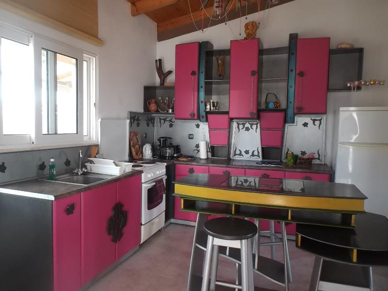 The unique tailormade kitchen in the apartment, 90 sqm. Welcome to explore a different holiday stay! - Apartment 90sqm, sleeps 6 with sea/mountainview - Faliraki - rentals