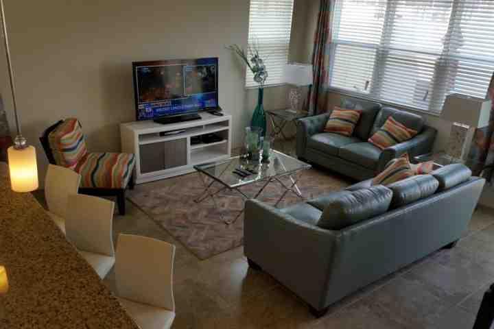 Living Room w/Flat Screen TV, Breakfast Bar Area - 3207 Compass Bay - Kissimmee - rentals