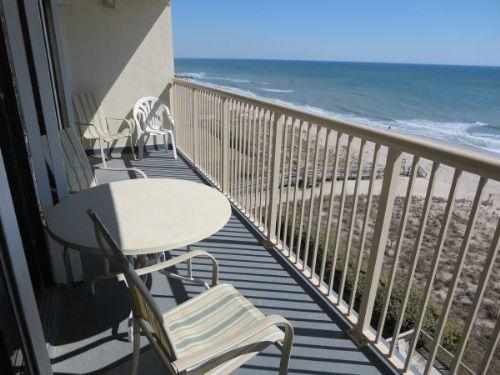 Deck View North - Pelican Watch 704 - Carolina Beach - rentals