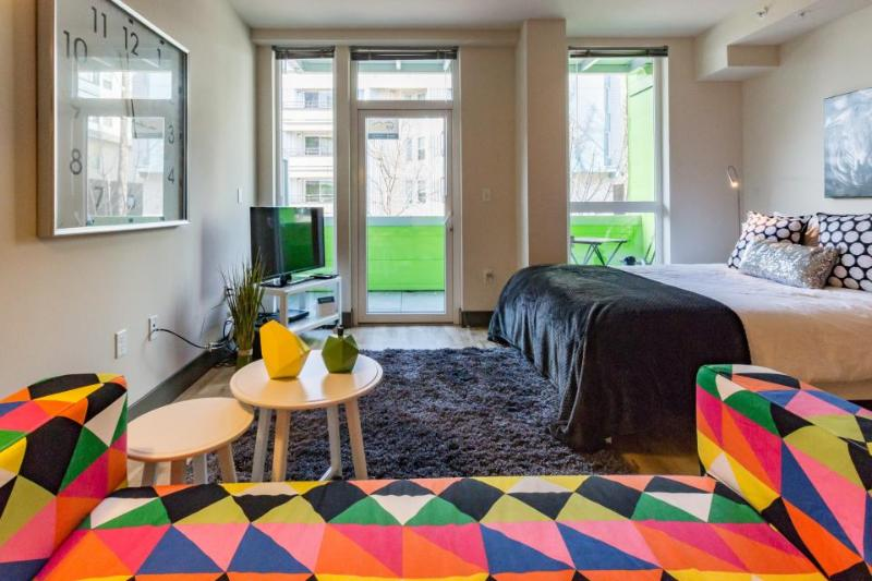 Downtown dog-friendly studio with a private balcony - close to everything! - Image 1 - Seattle - rentals