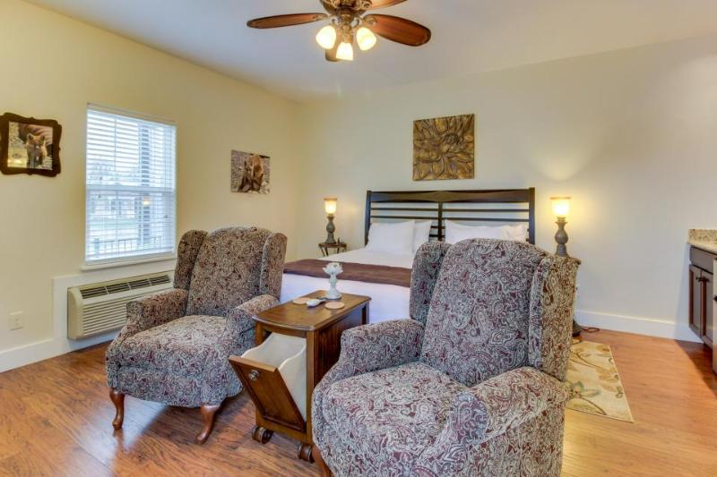Upscale suite with a shared pool & hot tub, blocks from the center of town! - Image 1 - Fredericksburg - rentals