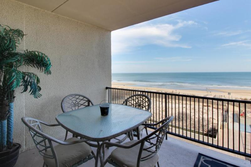 Beachfront view from private balcony, shared seasonal pool! - Image 1 - Ocean City - rentals