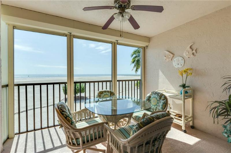 Carlos Pointe 212, 2 Bedrooms, Gulf Front, Elevator, Heated Pool, Sleeps 4 - Image 1 - Fort Myers Beach - rentals