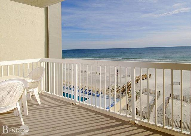 Balcony - Caribbean 401~E. Corner Condo with M. Bath Garden Tub~Bender Vacation Rentals - Gulf Shores - rentals