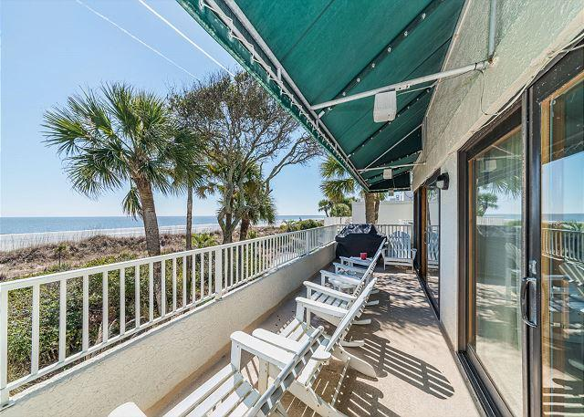 Livin' Life - Beach Villa 8, Ocean Front, 3 Bedrooms + Loft, Pool, Views, Sleeps 12 - Hilton Head - rentals