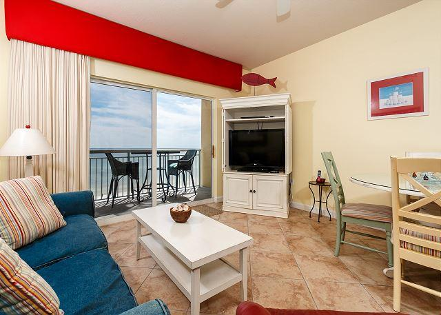 ENJOY YOUR VACATION IN THIS 2BR/2BA UNIT WITH AN AMAZING VIEW OF - PI 606: Beautiful top floor condo, WiFi, pool, spa, Free Beach Service - Fort Walton Beach - rentals