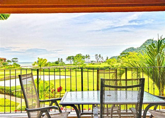Balcony overlooking the greens. - Spacious, Gorgeous, Top Rated, Los Sueños Condo, Close to Amenities! - Herradura - rentals