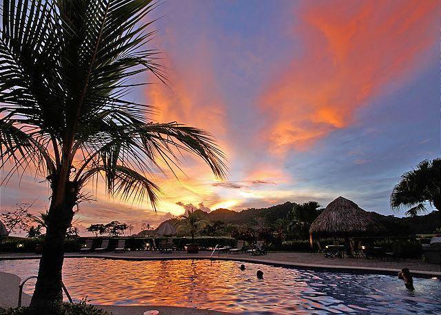 Sunset at the resort. - Special Deal! Luxury Condo, Top-notch service and World-class amenities! - Herradura - rentals