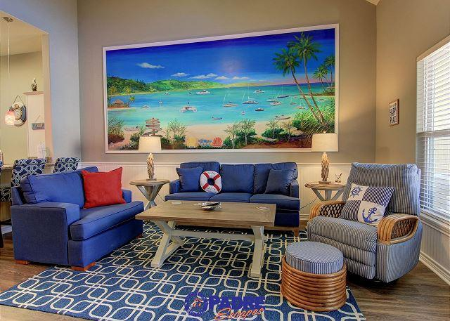 Living area - New Poolside Townhouse Close to the Beach - Corpus Christi - rentals