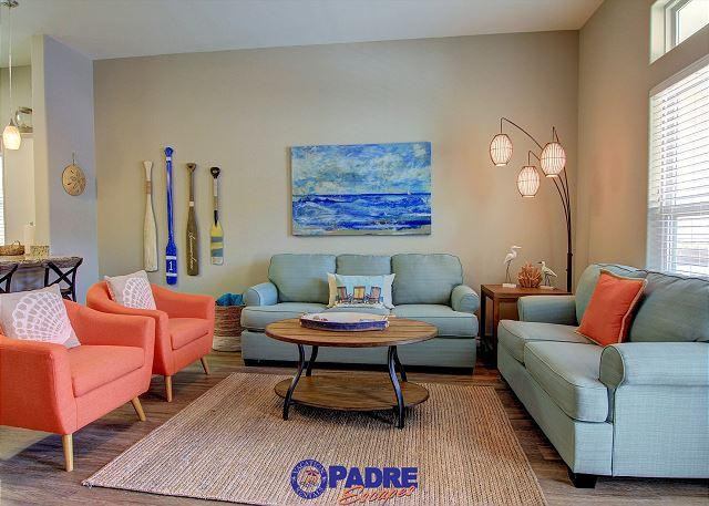 Living area - Escape to this Tropical Gulf Coast Retreat - Corpus Christi - rentals