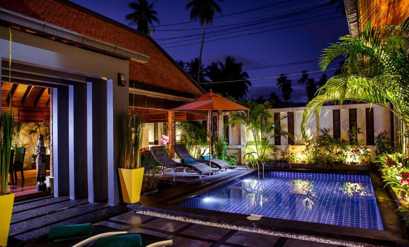 Exquisite evening atmosphere at Hideaway Villa  - Delightful & Appealing 2 Bedroom Tropical Villa - Laem Set - rentals