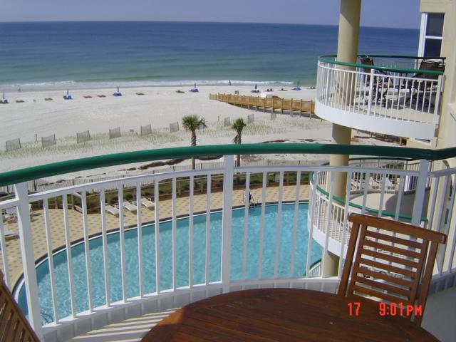 View of ocean and east pool from balcony - TRUE BEACH FRONT, 3 & 3, Large Balcony - Pensacola - rentals