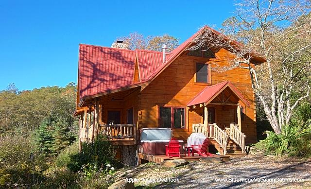 Apple Valley Overlook - Cozy Guest Fav Cabin*AWESOME VIEW*Hottub*Fireplace - Zionville - rentals
