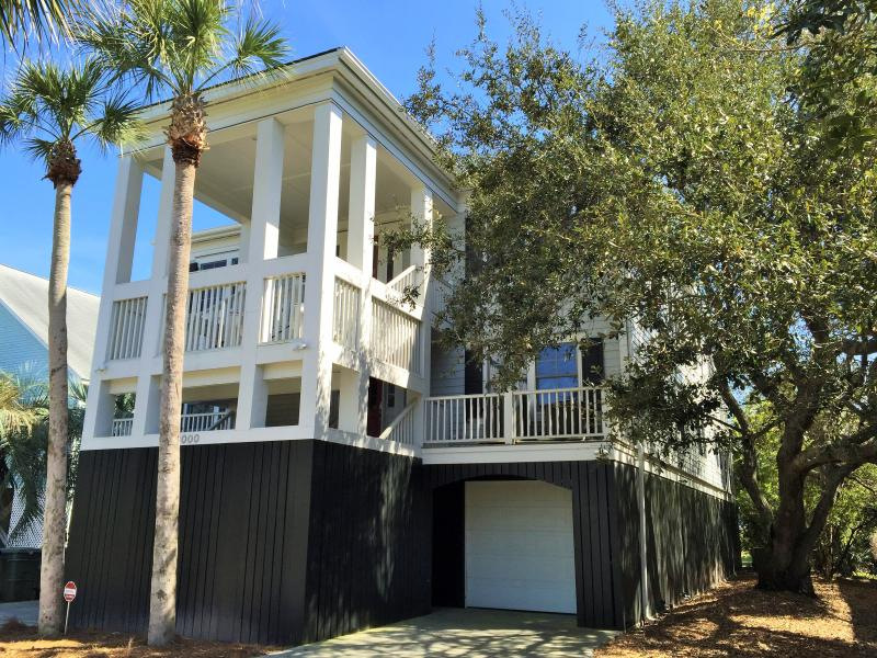 Front Exterior - Oceanfront Home with Large Screen Porches, and Private Boardwalk to the Beach - Isle of Palms - rentals