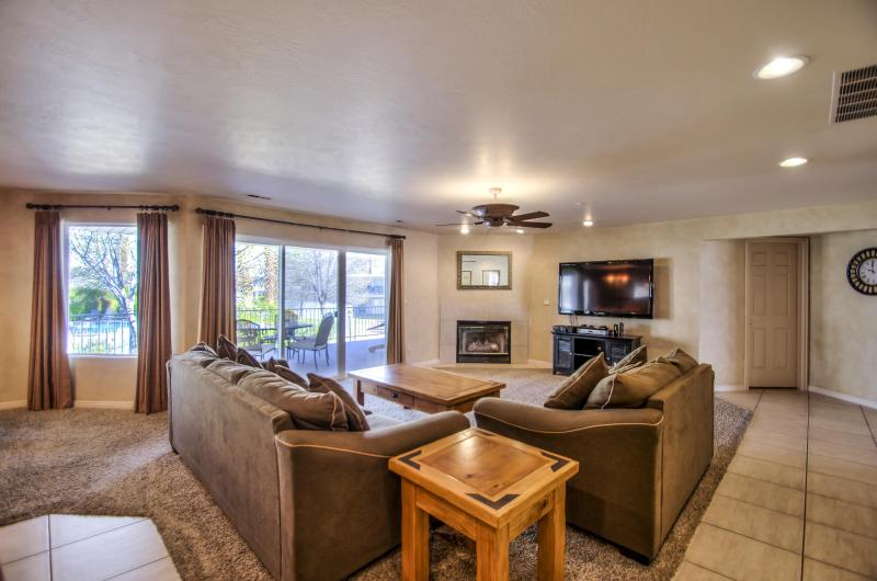 Living Room - Open Floor Plan - First-Class Quality Luxury Condo w/ Full Access - Saint George - rentals