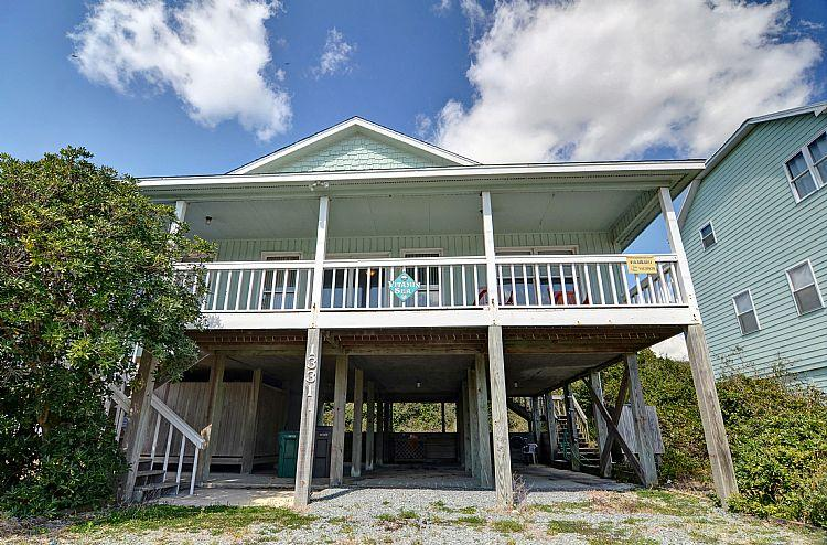 Exterior Front - Vitamin Sea - Cute Cottage, Near Ocean, Simple Design, Excellent Location - Surf City - rentals