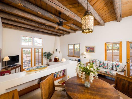 Old Santa Fe Trail with high ceiling and spacious living area - Two Casitas- Old Santa Fe Trail- Elegant, Sunny, Stylish - Santa Fe - rentals