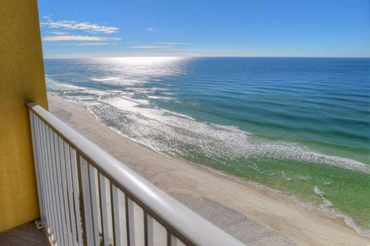 Actual View of the Gulf of Mexico from the balcony - 1306 Tropic Winds Resort - Panama City Beach - rentals