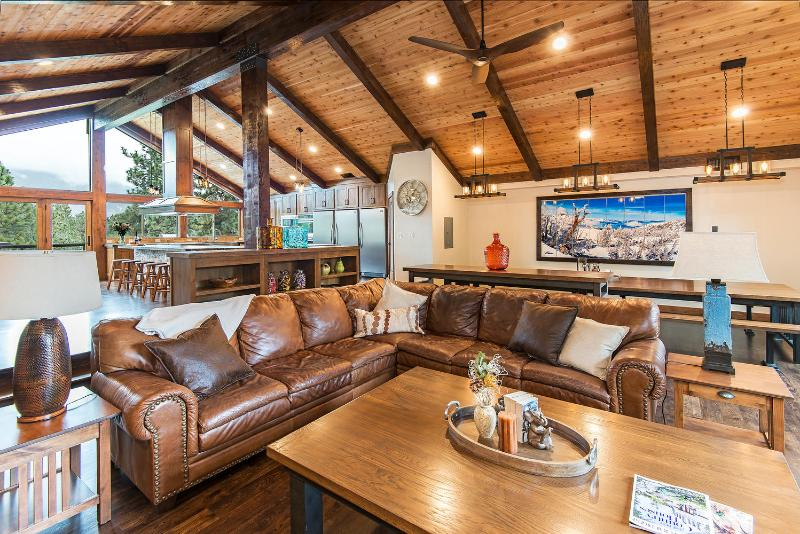 Gather the gang in this 1400 sf Great great room! - Luxury 6500SF Mansion-1400sf greatroom with HotTub - South Lake Tahoe - rentals