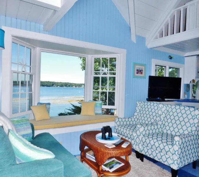 SeaGlass Cottage in East Boothbay. - SeaGlass Cottage: East Boothbay Oceanfront - Boothbay - rentals