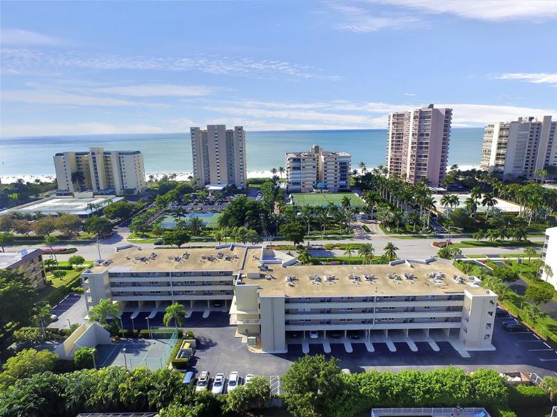 AERIAL BEACH VIEW - Marco Beach Club 313 - Marco Island - rentals