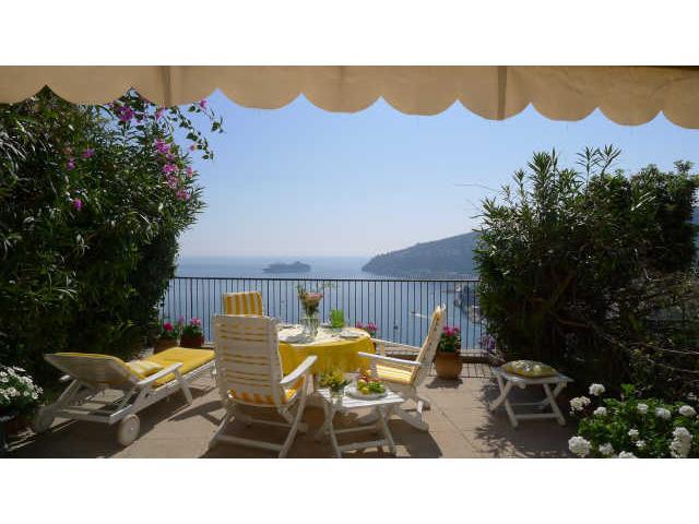Private terrace, view over Villefranche bay. - LEOPOLD II VILLA VI2076 - Nice - rentals