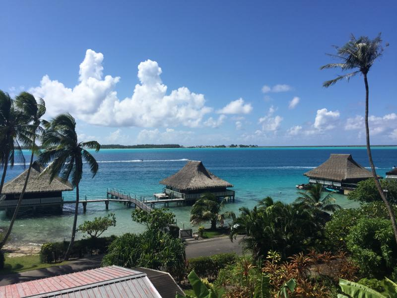 The view from our hillside bungalow.  Just steps away from the beach. - Maeva Hoa - Bora Bora Luxury Lagoon View Bungalow - Faanui - rentals