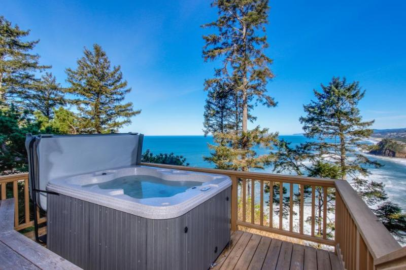 Dog-friendly home w/private hot tub, views of Proposal Rock and the ocean - Image 1 - Neskowin - rentals