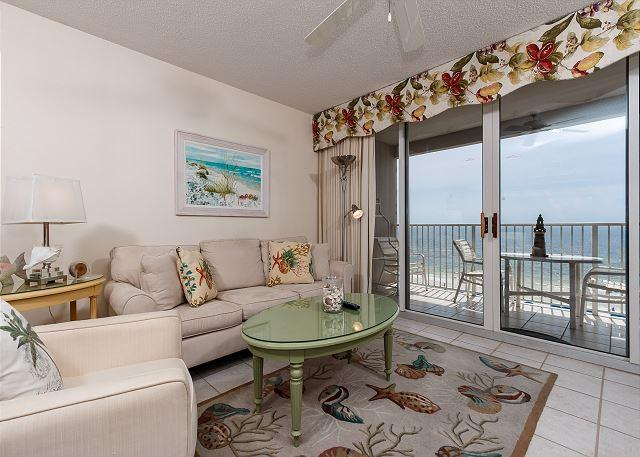 Stunning views from this 7th floor unit! - IP 709:TOP FLOOR 3BR, VERY COMFORTABLE, RESERVED PARKING, GREAT UPGRADES! - Fort Walton Beach - rentals