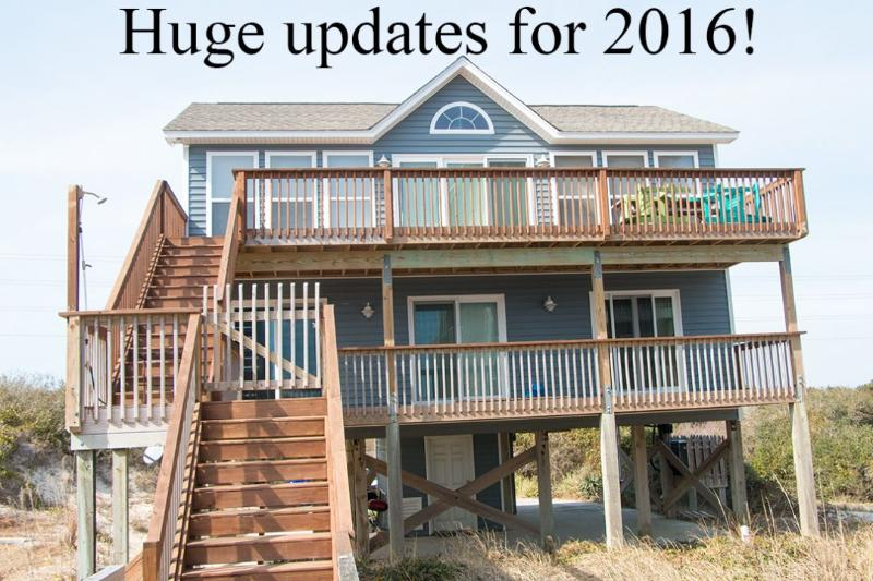 From the beach side - Island Drive 4472 Oceanfront-B Lot! | Internet, Hot Tub, Pet Friendly - North Topsail Beach - rentals