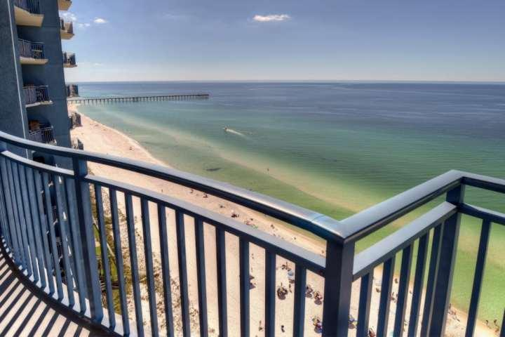 Actual View of the Gulf of Mexico and Pier from the balcony - 1806 Sterling Breeze - Panama City Beach - rentals