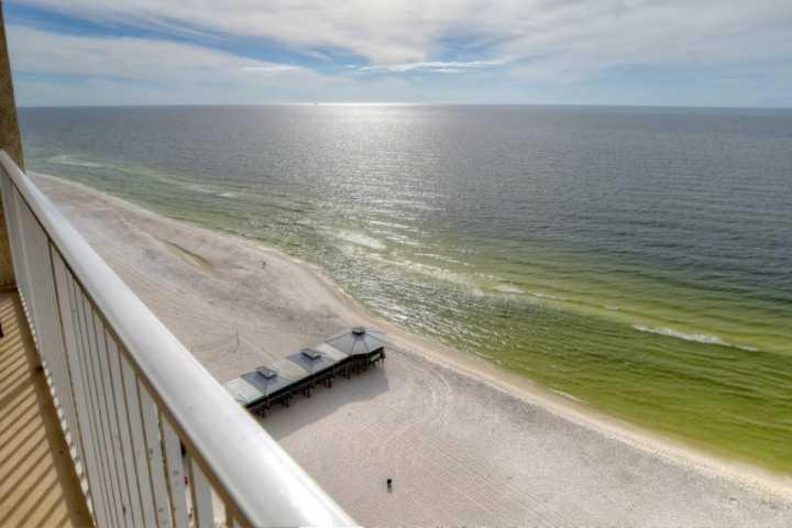 Incredible View from your balcony of the Gulf of Mexico and Pineapple Willy's - 1629 Shores of Panama - Panama City Beach - rentals