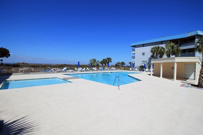 Savannah Beach and Racquet Club Condos - Unit B103- Water View - Swimming Pool - Image 1 - Tybee Island - rentals
