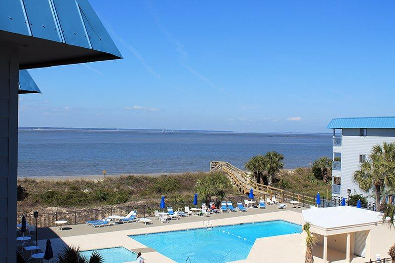 Savannah Beach & Racquet Club Condos - Unit B318 - Water View - Swimming Pool - Image 1 - Tybee Island - rentals