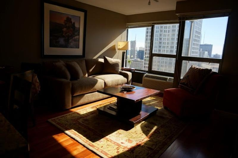 Furnished 1-Bedroom Condo at N Wabash Ave & E Huron St Chicago - Image 1 - Chicago - rentals