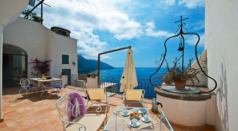 01 Villa Gina private terrace - VILLA GINA Positano - Amalfi Coast - Positano - rentals