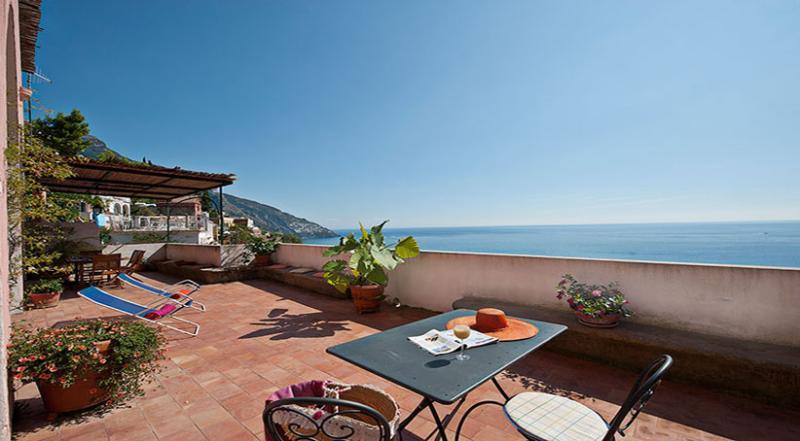 01 Villa Blumare private terrace - VILLA BLUMARE Positano - Amalfi Coast - Positano - rentals