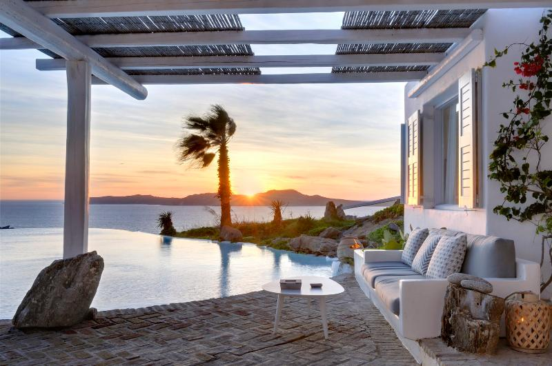 Patio - Blue Villas | Claudine | Sea Views, Close to town - Mykonos Town - rentals